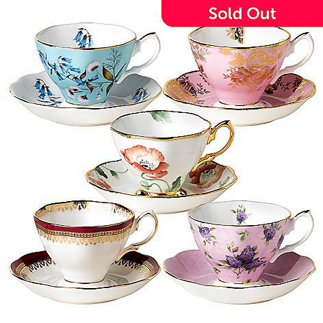 406-362 - Royal Albert® ''100 Years of Royal Albert'' 10-Piece Teacup & Saucer Set