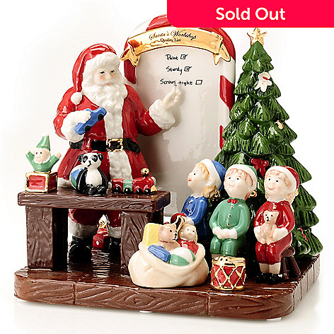 406-423 - Royal Doulton 7-1/2'' Santa's Toy Testing Figurine Signed by Michael Doulton
