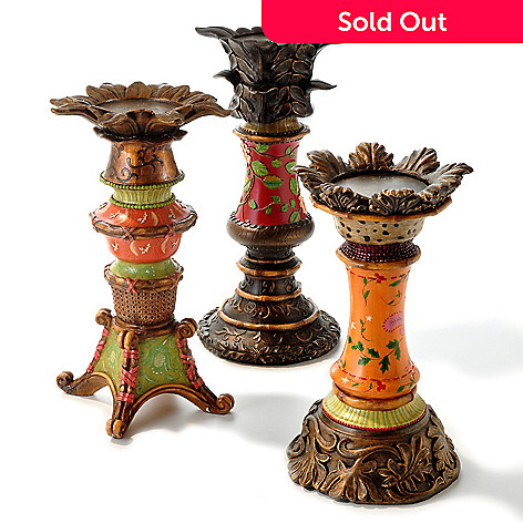 406-532 - Style at Home with Margie ''Murella'' Set of 3 Candle Holders