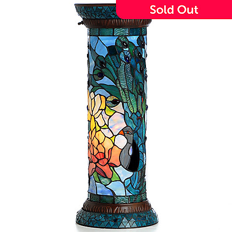 407-067 - Tiffany-Style 26.5'' Fantastic Feadora's Stained Glass Pedestal