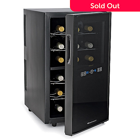412-638 - Wine Enthusiast Touchscreen Two-Temp 18 Bottle Wine Refrigerator