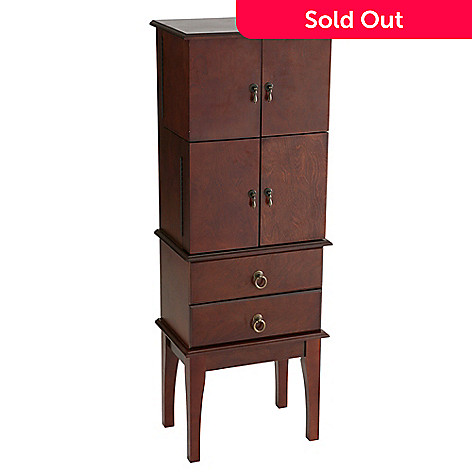 412-677 - NeuBold Home Jewelry Armoire Cherry Finish