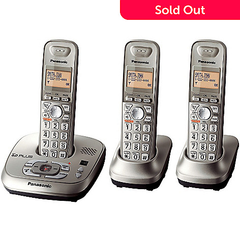 419-773 - Panasonic KX-TG4023N DECT 6.0 Plus 1.9 GHZ Expandable Set-of-Three Digital Cordless Telephones