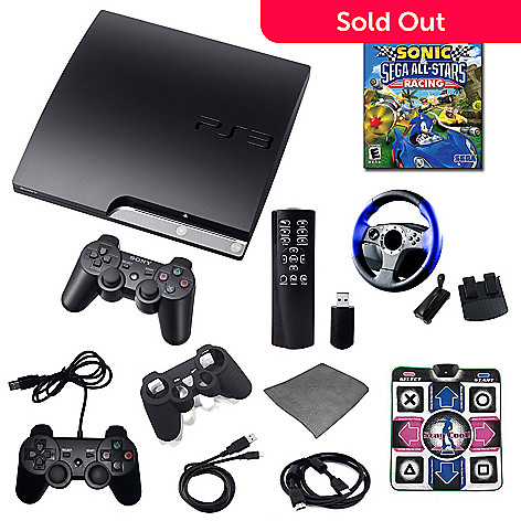 422-359 - Sony PlayStation 3 160GB Ultimate Bundle w/ Sonic & Sega All Stars Racing Game & Accessories