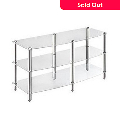 424-175 - Vantage Point Glass Three-Shelf TV Stand