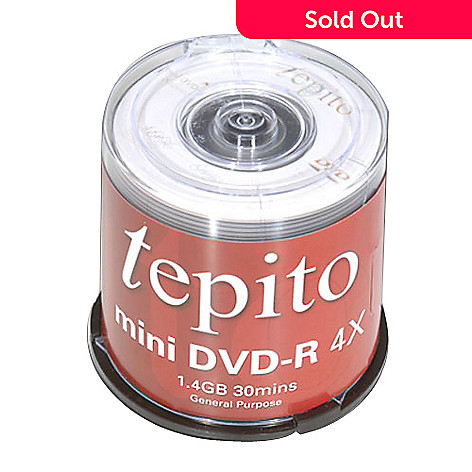 424-191 - Tepito 50-Pack of Mini DVD-Rs
