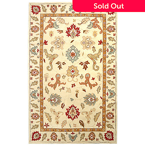 424-892 - Global Rug Gallery 7.5' x 9.5' Persian Style Hand Tufted Wool Rug