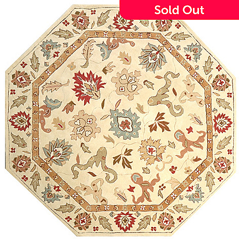 424-894 - Global Rug Gallery 6' x 6' Persian Style Hand Tufted Wool Rug