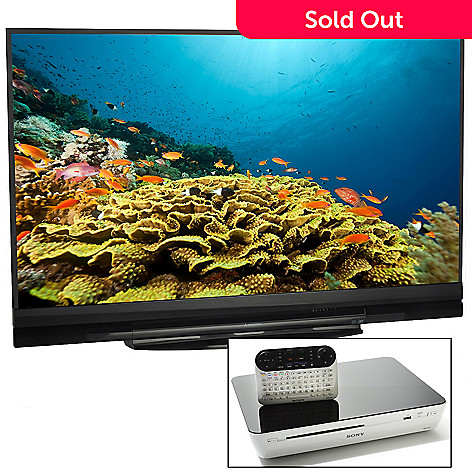 425-663 - Mitsubishi 73'' 1080p 3D DLP HDTV, Sony Wi-Fi Blu-ray Player w/ GoogleTV™ & HDMI Cable