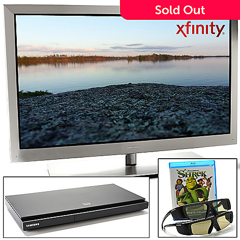 425-680 - Samsung 46'' 1080p 240Hz 3D LED-LCD HDTV w/ HDMI Cable, Blu-ray Player, Shrek Bundle & Two 3D Glasses