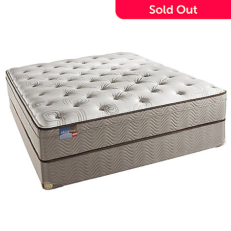 425-746 - Simmons® BeautySleep® ''Cohill'' Plush Eurotop Queen Mattress Set
