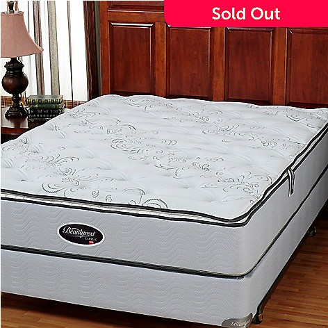425 812 Simmons Beautyrest Classic Cherrydale Plush Pillowtop Queen Mattress Set