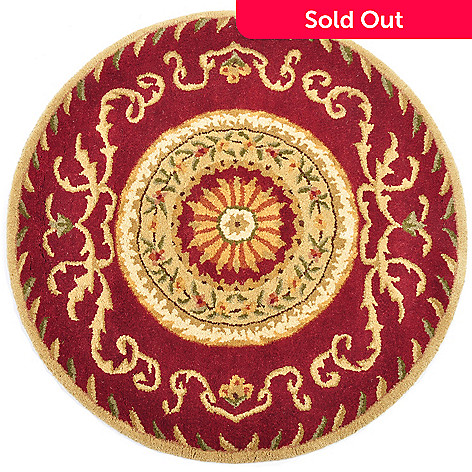 427-630 - Style at Home with Margie Serenity 3' Round Hand-Tufted Aubusson-Style Wool Rug