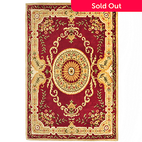 427-692 - ''Serenity'' 6.75' x 8.75' Aubusson-Style Handtufted Wool Rug