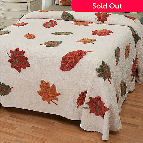 429-109 - North Shore Linens™ ''Autumn Leaves'' 100% Cotton Chenille Bedspread