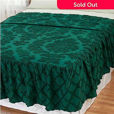 429-110 - North Shore Linens™ ''Damask'' Cotton Chenille Bedspread