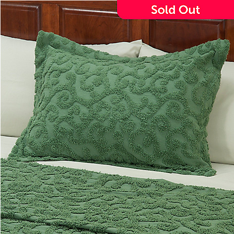 429-115 - North Shore Linens™ ''Scroll'' Cotton Chenille Sham