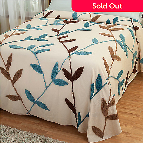 429-118 - North Shore Linens™ ''Wandering Vines'' Cotton Chenille Bedspread