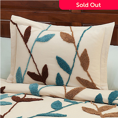429-119 - North Shore Linens™ ''Wandering Vines'' Cotton Chenille Sham