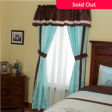 429-121 - North Shore Linens™ ''Brookfield'' Five-Piece Window Set