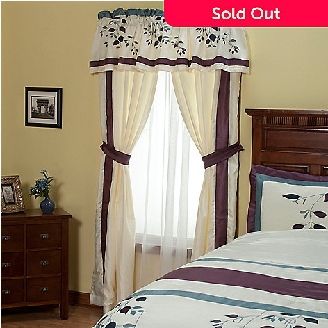 429-123 - North Shore Linens™ ''Crescendo'' Five-Piece Window Set