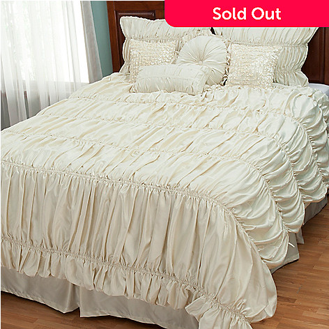 429-135 - Cozelle® ''Sophia'' Silkessence™ Eight-Piece Bedding Ensemble