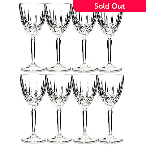 429-168 - Marquis by Waterford Set of Eight Crystalline Sparkle Glasses