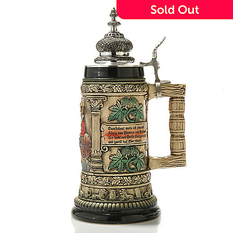 429-188 - King-Werk™ Thewalt™ ''1893 Gambrinus King of Beers'' Stoneware Stein