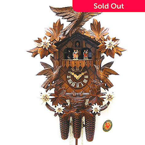 429-190 - Hubert Herr Classical Music Dancers Eight-Day Hand Crafted Cuckoo Clock