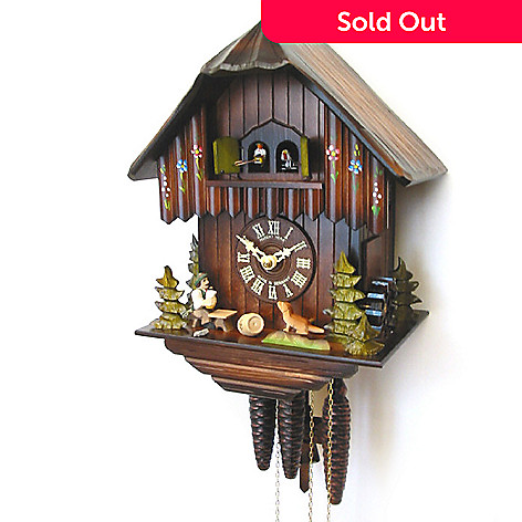 429-192 - Hubert Herr Music & Beer Drinker One-Day Double Door Cuckoo Clock