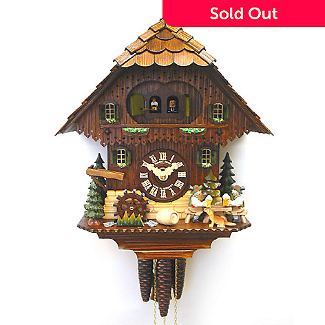 429-193 - Hubert Herr Music & Double Beer Drinker One-Day Cuckoo Clock
