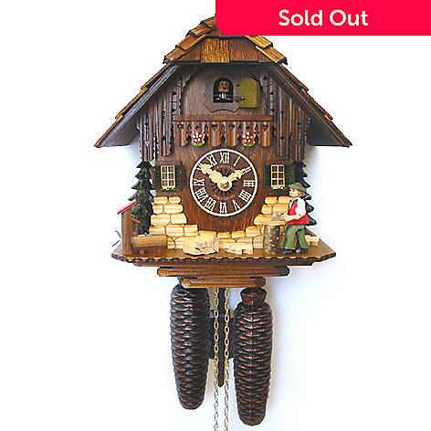 429-198 - Hubert Herr Moving Woodchopper Eight-Day Hand Crafted Cuckoo Clock
