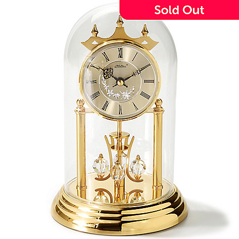 429-219 - Haller™ Quartz Diamond-Cut Dial Table Clock Made w/ Swarovski® Elements