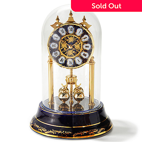 429-221 - Haller™ Decal Quartz & Porcelain Anniversary Table Clock