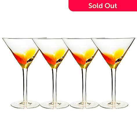 429-228 - Shiraleah ''Marakesh'' Set of Four Martini Glasses