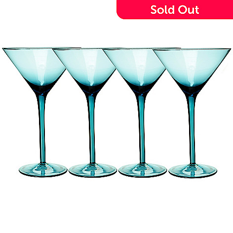 429-232 - Shiraleah ''Venezia'' Set of Four Martinia Glasses