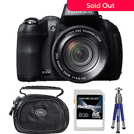 429-271 - Fujifilm FinePix HS30EXR 16MP Digital Camera w/ Case, Mini Tripod  & 8GB SDHC Card