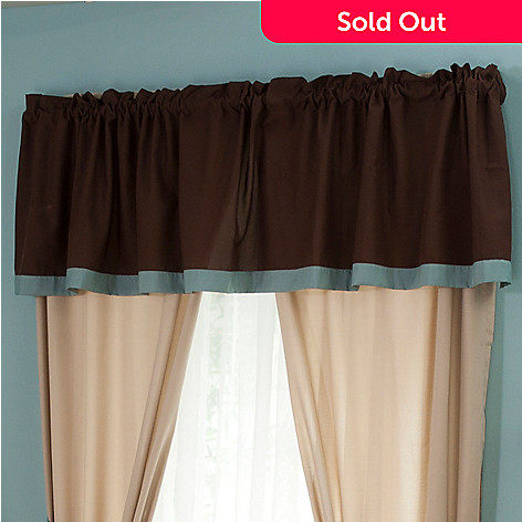 429-573 - North Shore Linens™ ''Silhouette'' Four-Piece Window Valance
