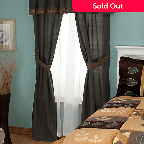 429-578 - North Shore Linens™ ''Velvet Leaf'' Four-Piece Window Set
