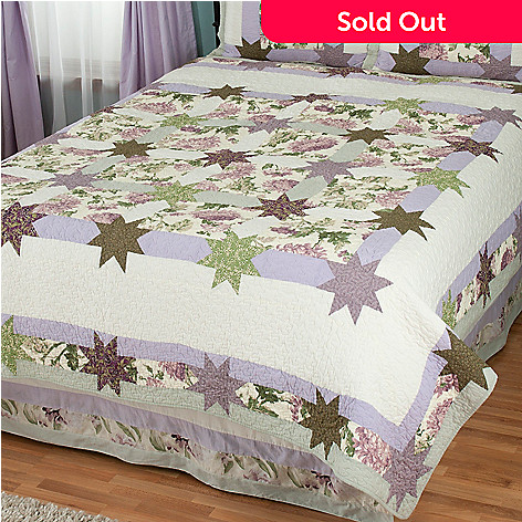 429-604 - North Shore™ Collectible Quilts ''Twilight Garden'' Limited Edition 100% Cotton Quilt