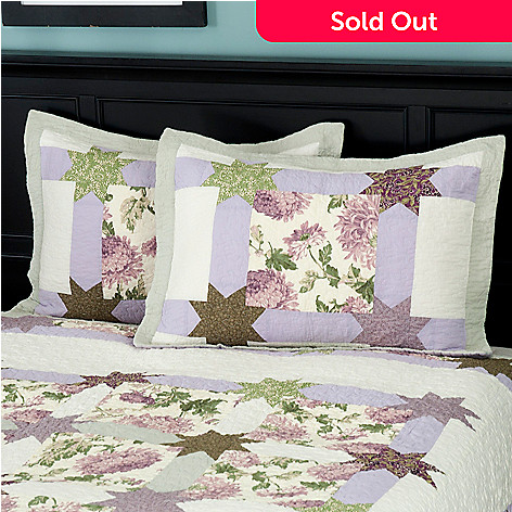429-605 - North Shore™ Collectible Quilts ''Twilight Garden'' 100% Cotton Sham Pair