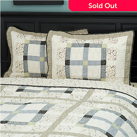 429-613 - North Shore™ Collectible Quilts ''Townhouse'' 100% Cotton Sham Pair