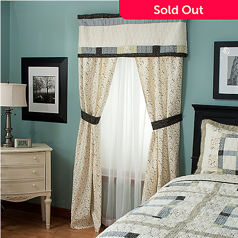 429-614 - North Shore™ Collectible Quilts ''Townhouse'' Five-Piece Window Set