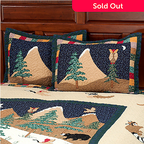 429-617 - North Shore™ Collectible Quilts ''Bear Mountain'' 100% Cotton Sham Pair