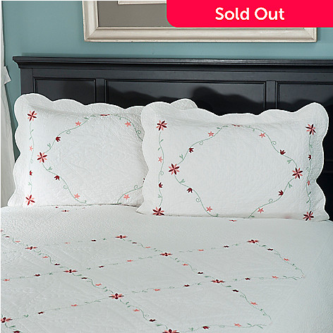 429-621 - North Shore™ Collectible Quilts ''Marie'' 100% Cotton Sham Pair
