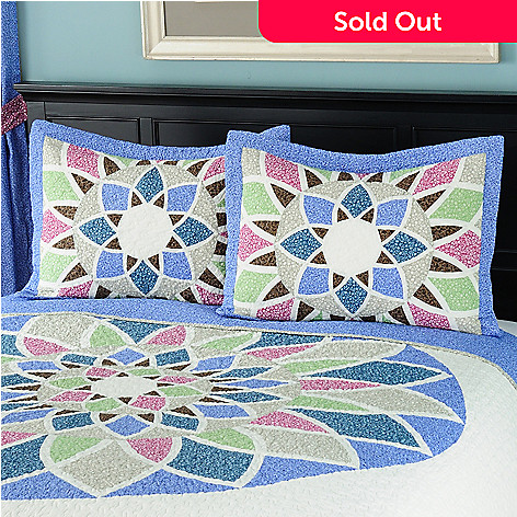 429-624 - North Shore™ Collectible Quilts ''Kaleidoscope'' 100% Cotton Sham Pair