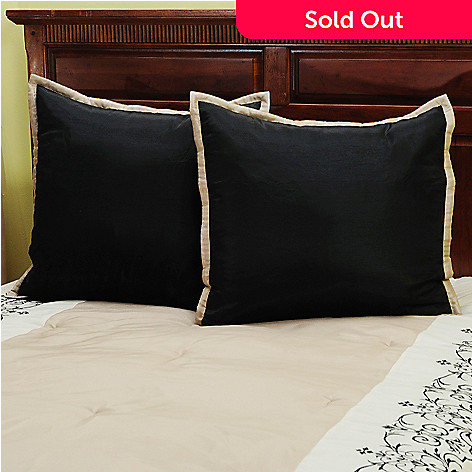 429-733 - North Shore Living™ ''Kingstone'' Euro Shams - Set of Two