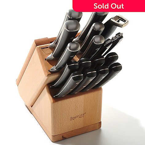 429-755 - BergHOFF® 19-Piece Knife Block Set w/ Swivel Base & Cutting Board