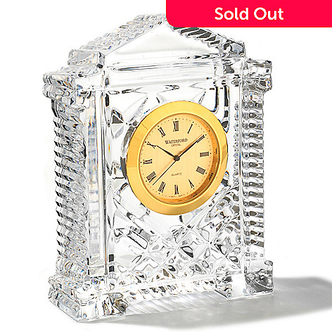 429-770 - Waterford Crystal 4-1/2'' Grecian-Style Clock