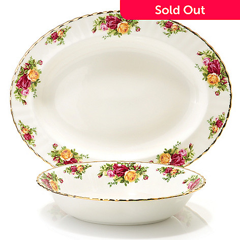 429-786 - Royal Albert® Old Country Roses Two-Piece Serveware Set